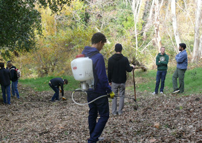Eagle Scout restoration volunteers